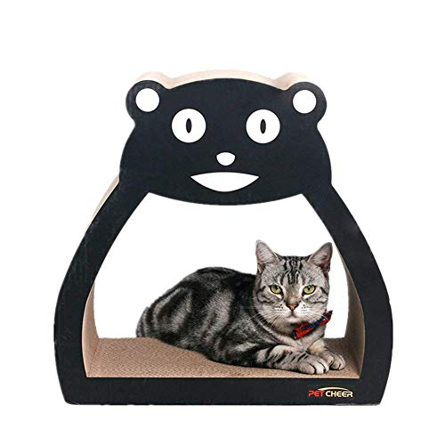 PetCheer 2 Pack Multi-Style Cat Scratcher Scratching and Resting Pads Toy for Cats with Catnip