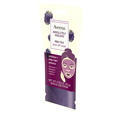 AVEENO Absolutely Ageless Peel Face Mask with Hydroxy Acids, E Blackberry oz
