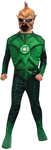 Green Lantern Child's Deluxe Tomar Re Costume with Muscle Chest - One Color - -