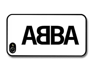 AMAF ? Accessories Abba Logo Black and White case for iPhone 4 4S