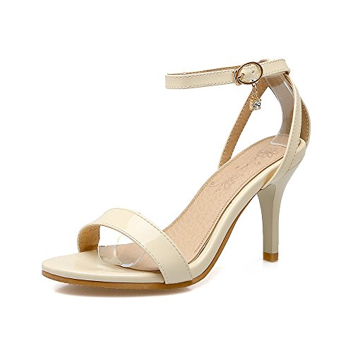 Beige Sandalias Tacones de de amp;X Mujer Dreamgirl Aguja Zapatos QIN Tiras S6qwv5xq
