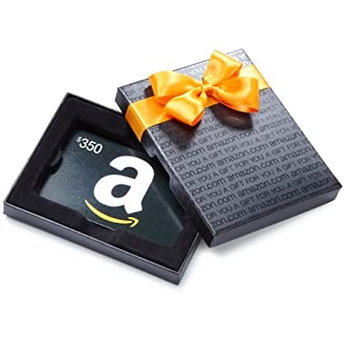 Amazon.com $350 Gift Card in a Black Gift Box (Classic Black Card Design)