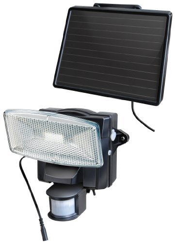 Brennenstuhl 1170950 Solar LED Light SOL 80 plus IP44 with PIR sensor 8xLED 0,5W 350lm Cable length 4,75m Colour Black by Brennenstuhl by Brennenstuhl