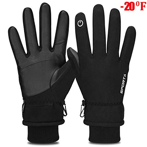 - Yobenki Winter Gloves, -20°F(-28°C) Touch Screen Thermal Gloves Windproof Cuff Gloves