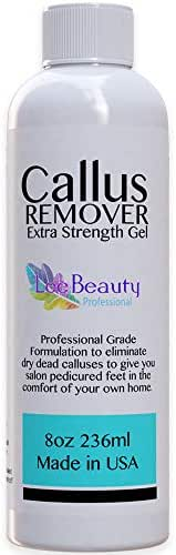 8oz Callus Remover gel for feet for a professional pedicure. Better results than, foot file, pumice stone, foot scrubber, foot buckets & callus shaver. Rid ugly callouses from feet in minutes!
