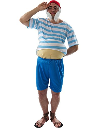 Adult Tubby Pirate Costume (Captain Hook Adult Costume)