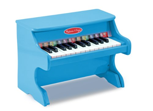Melissa & Doug Learn-to-Play Piano With 25 Keys and Color-Coded Songbook - Blue JungleDealsBlog.com
