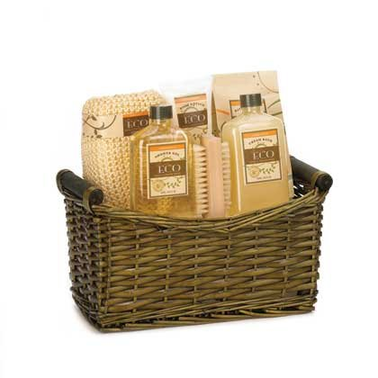 koehler home decor eco vanilla ginger spa basket