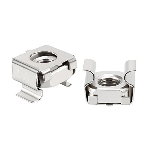 uxcell 35 Pack, M5 Cage Nut, Carbon Steel Nickel Plated for Server Shelf Cabinet