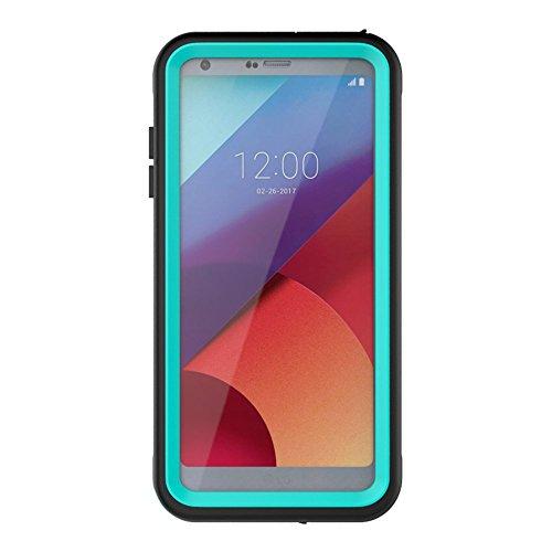 LG G6 Waterproof Case,Underwater Cover Full Body Protective Shockproof Snowproof Dirtproof IP68 Certified Waterproof Case with Kickstand for LG G6-2017 Newest Released- (Aqua)