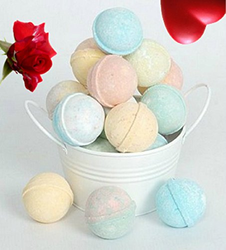 - SPLENDEUR Bucket O' 12 LUSCIOUS Bath Bomb Fizzes/ Wrapped 2
