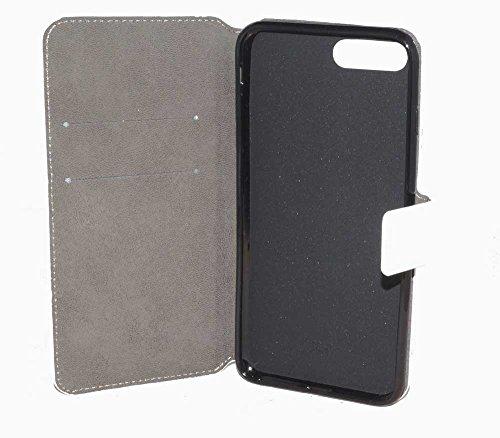 Handy Tasche Case book für Apple iPhone 7 Plus - Schutzhülle Hülle Handytasche weiß