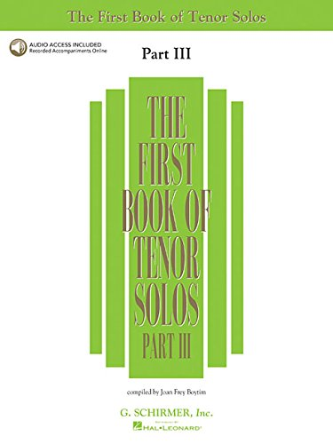 First Book of Tenor Solos - Part III (First Book of Solos) pdf epub
