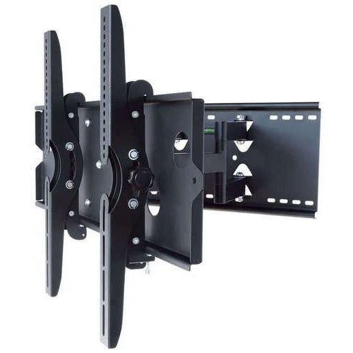 2xhome – NEW TV Wall Mount Bracket (Dual Arm) – Secure Low Profile Cantilever LED LCD Plasma Smart 3D WiFi Flat Panel Screen Monitor Moniter Display Large Displays - Long Swing Out Dual Double Arm by 2xhome