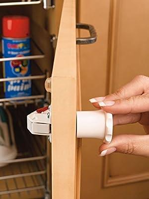 Rev-A-Shelf Tot-Lock Cabinet Security 4 Lock and Single Key Assembly (Model TL-13401-R)
