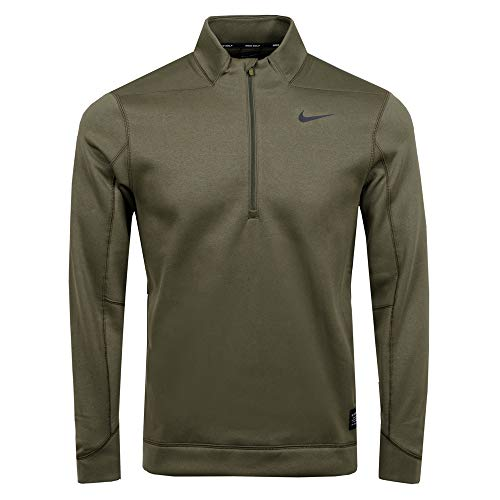 (Nike Men's Therma Repel Half-Zip Golf Top (Olive Canvas/Black, X-Large))