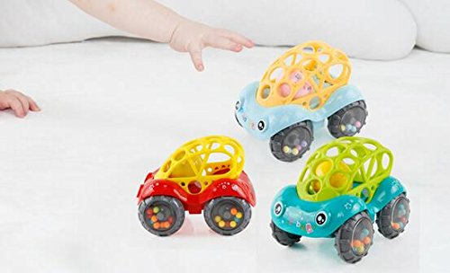 KINGSUNG Soft Rattle Car 6-12 Months Baby Puzzle 0-1-3 Hand Grasping Ball toys(color random) by KINGSUNG (Image #1)