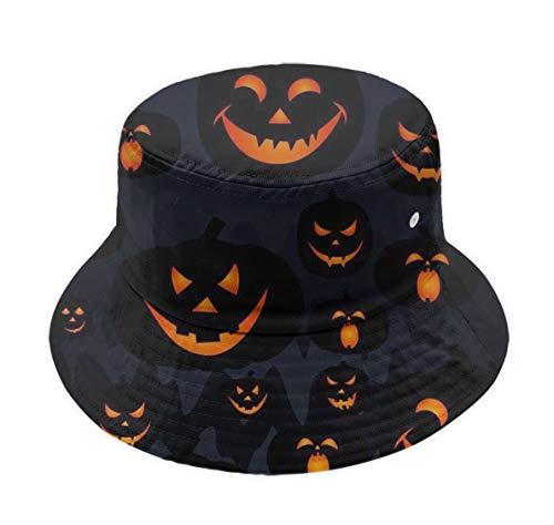 Halloween Pumpkin Patterns Bucket Hat Packable Wide Brim Cap Outdoor Sun -