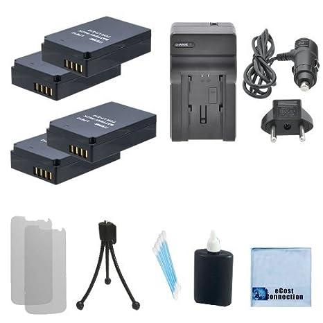 4 LP-E12 Baterías + Coche/Cargador de casa para Canon EOS M, EOS M2, Rebel SL1, 100d Cámara + Kit de Iniciación Completo: Amazon.es: Electrónica