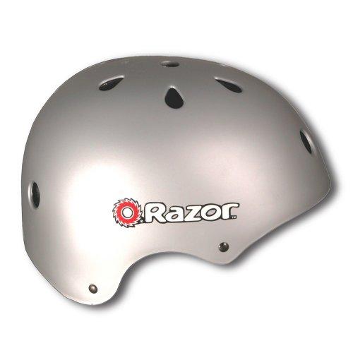 Razor Aggressive Youth Matte Silver Helmet
