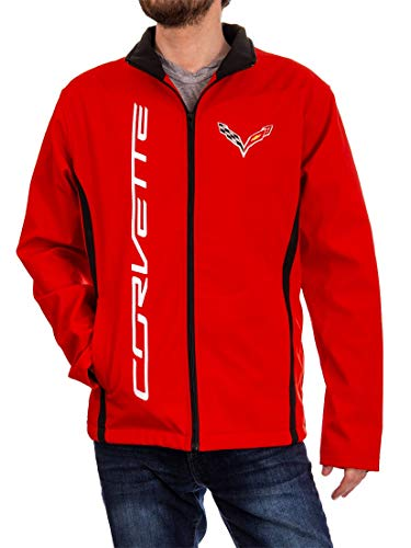 GM Chevrolet Unisex Bonded All-Season Jacket (Corvette (Red), - Hat Chevrolet Corvette