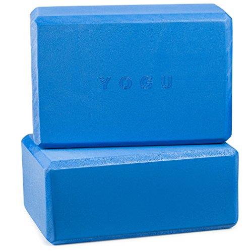 Yoga Blocks, Set of 2 By Yogu (Blue, 9'x6'x3')