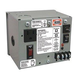 Functional Devices (RIB) PSH100AB10 Enclosed Single 100VA 120 to 24Vac UL Class 2 powe