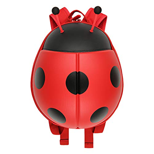 ladybird Little Kids School Bag Toddler Backpack cute animal Chafer Ladybug bag for Kindergarten children (red)