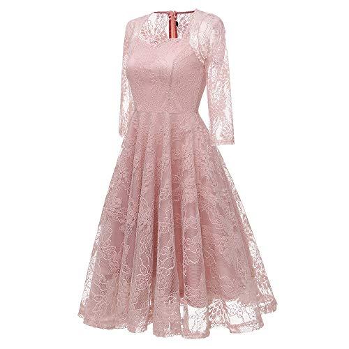 Elevin(TM) Long Dresses Women Casual Evening Party Dress Gown Lace Chiffon Flora Long Sleeve Cocktail Dress by Elevin(TM) _ Women Formal Dress (Image #1)