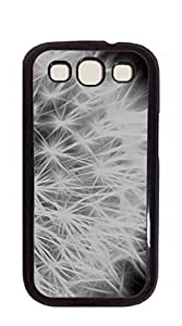 Custom Cover Case with Hard Shell Protection Phone shell Samsung - Dandelion Black and White