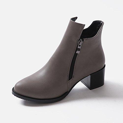 Kvinners Cowboy 2 Boots Grå Yl Størrelse Uk Hq86dqB