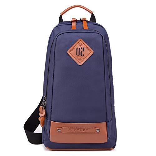modo di a diagonale borsa Brillante blu tracolla viaggi brillante borsa per nero grande tracolla capacità multifunzionale a affari nxPItwr4I