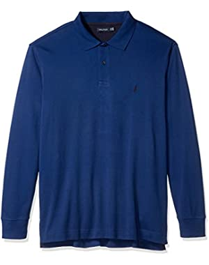 Men's Big and Tall Long Sleeve Polo Shirt