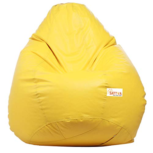 Sattva Classic Bean Bag Cover Without Beans XXXL Size   Yellow