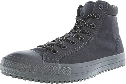 Converse Canvas Boot - Converse CHUCK TAYLOR ALL STAR SHIELD CANVAS PC HIGH TOP BOOTS mens boots 153681C-049_7 - Almost Black / Almost Black