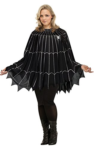 Spider Costume For Adults (Spider Web Poncho Plus Size Costume (Plus Size))