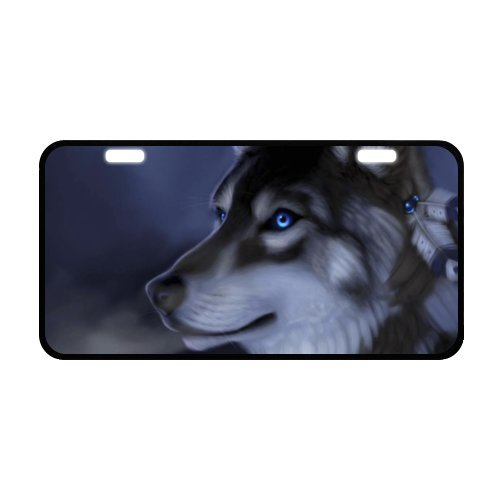 Blue eye Dog License Plate with Cheap Sale-11.8