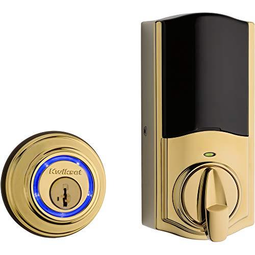 Kwikset 99250-821 Kevo 2nd Gen Refurbished Smart Lock (Renewed), Lifetime Polished Brass