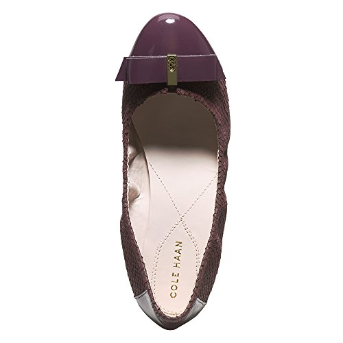 Elsie Haan Cole Flat Ballet Women's Leather Fig Embossed Suede Ii A7CwxqdC