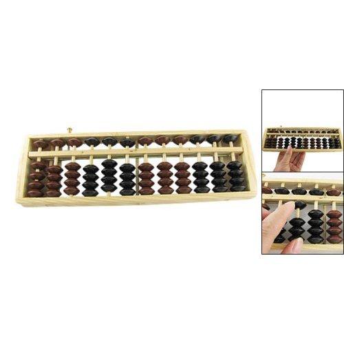 SODIAL(R) Abaco soroban giapponese in legno con pallina marrone e nera per calcolo