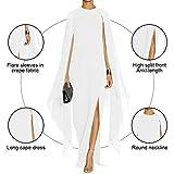 MAYFASEY Women's Flare Sleeve High Split Formal