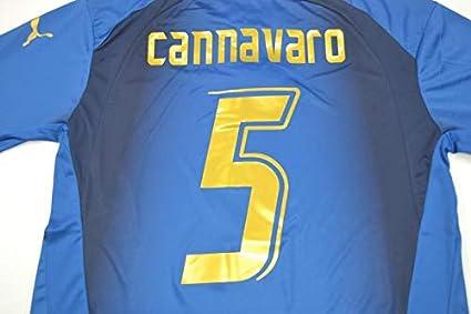 the latest b4c1a 47eef Amazon.com : Retro CANNAVARO Italy Home Soccer Jersey 2006 ...
