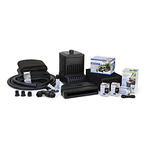 Aquascape 53039 Medium | AquaSurgePRO 2000-4000 Complete Waterfall Kit with 16 Feet Stream, Black