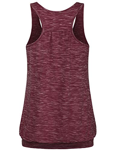Miusey Womens Sleeveless Round Neck Loose Fit Racerback Workout Tank Top
