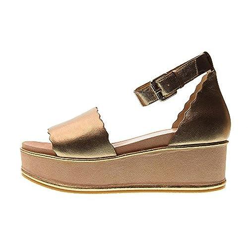 3b2c5b08154 Adele DEZOTTI Zapatos de Mujer Sandalias con Plataforma P0602P Gold Buena