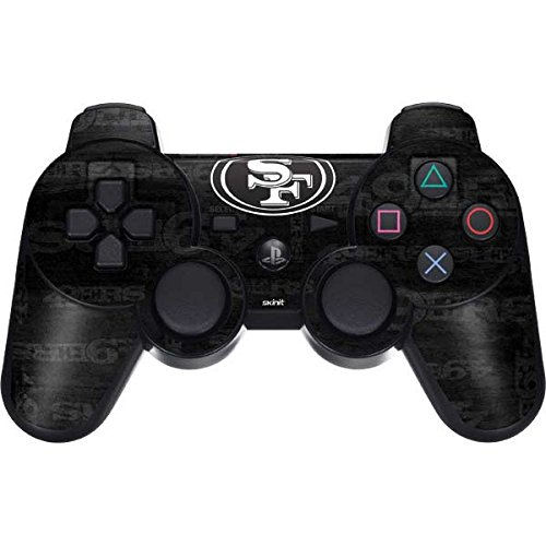 Skinit Decal Gaming Skin for PS3 Dual Shock Wireless Controller - Officially Licensed NFL San Franciso 49ers Black & White Design (Camo Ps3 For Skin)