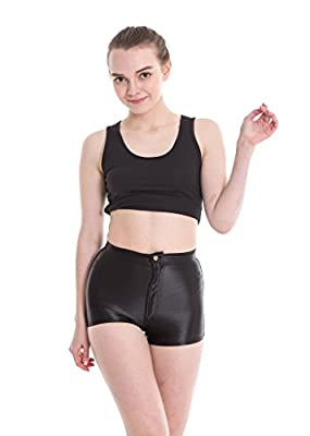 Yomsong Women's High Waist Shiny Satin Sexy Disco Short Pants 9 Colors