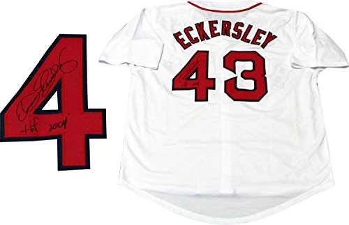 "Dennis Eckersley ""HOF 2004"" Autographed Boston Red Sox Jersey"