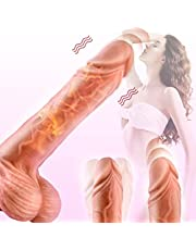 Realistic Dildo For Woman Viberate Thrusting - 8 Inch 🔥🔥🔥 Heating,Silicone with Suction Cup,Vibrantor Dildo for Sex Women Different Speeds,G-Spot Vagina Anal Sex Vibrator Toy for Women Masturbation