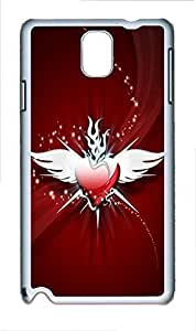 Samsung Note 3 Case Angel Heart PC Custom Samsung Note 3 Case Cover White doudou's case
